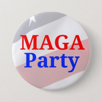MAGA Party Customizable Button