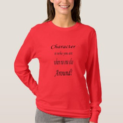 Character is who you are when