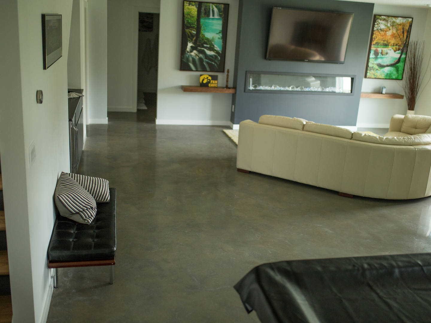 Gray polished Concrete