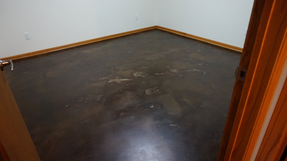 Leather Acid Stained Overlay