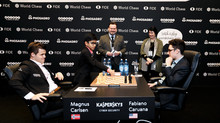 First Ceremonial Move in World Championshiop 2018 for Magnus Carlsen