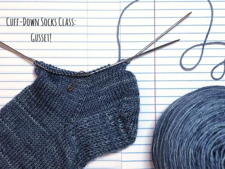 Cuff-Down Socks Class: Gusset!