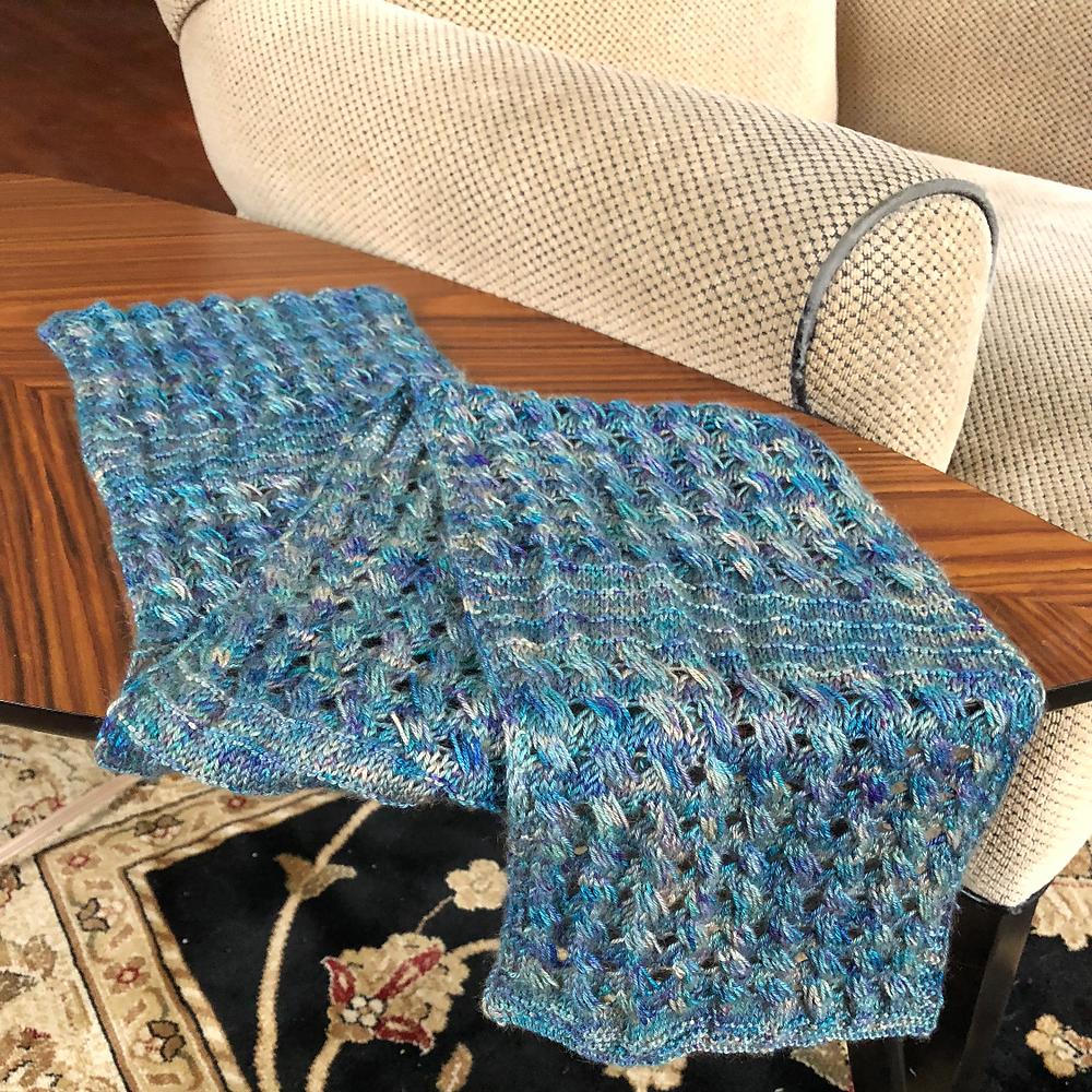 Ziggidy Pop knitted cowl pattern