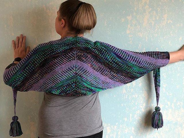 Intergalactic Wrap Brioche Knitting Pattern