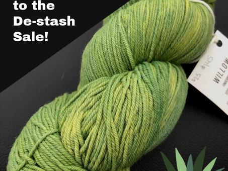 De-Stash Yarn Sale!