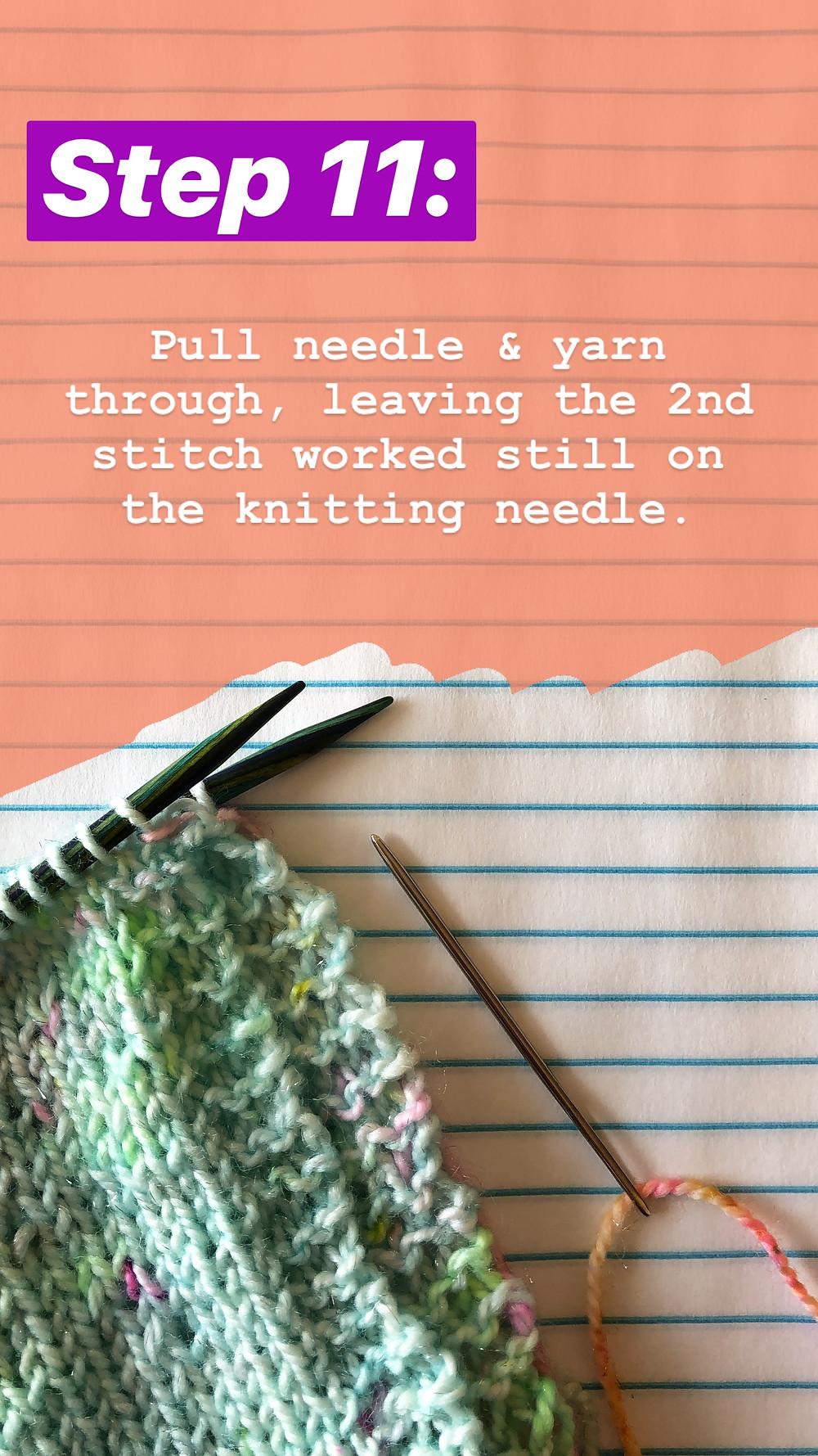 Easy Grafting / Kitchener Stitch Tutorial Step 11