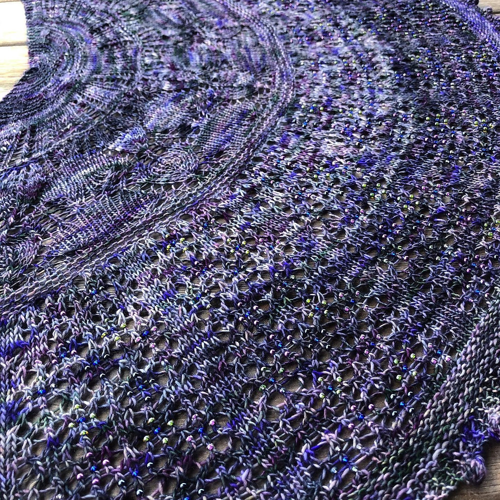 Tales of Childhood Shawl Lace and Mosaic Colorwork Knitting Pattern