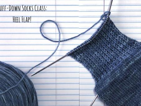 Cuff-Down Socks Class: Heel Flap!