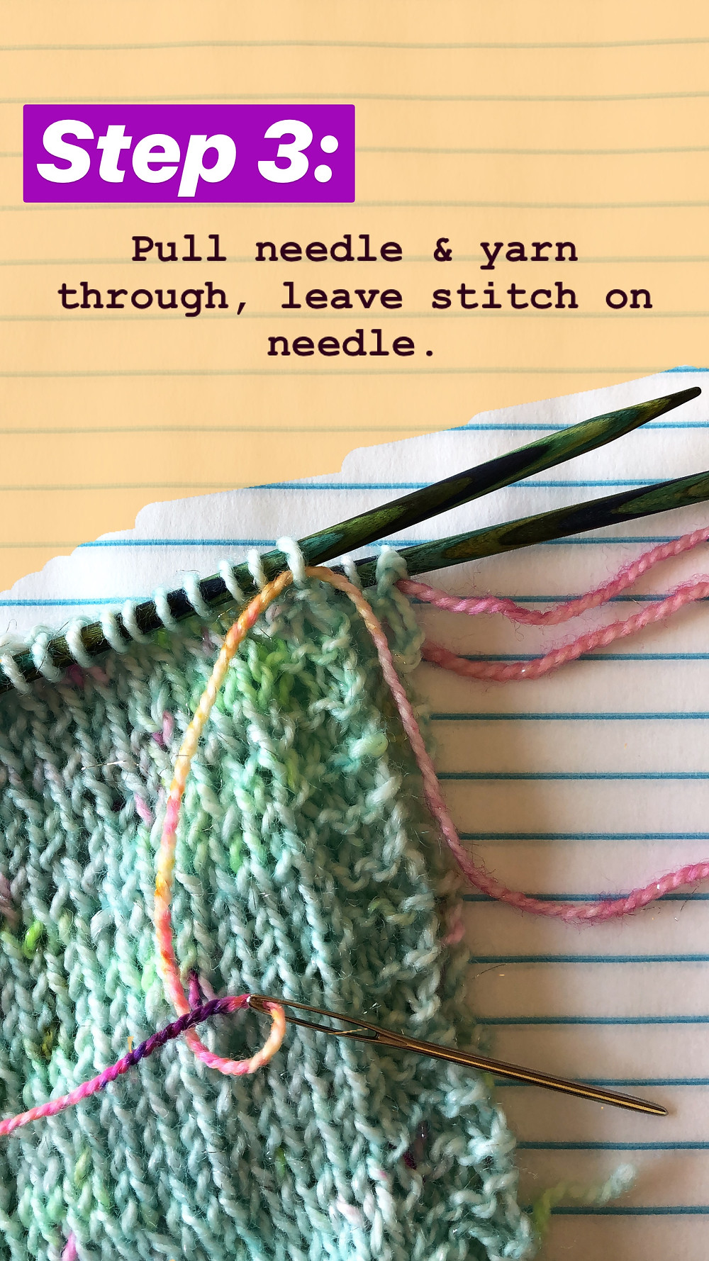 Easy Grafting / Kitchener Stitch Tutorial Step 3