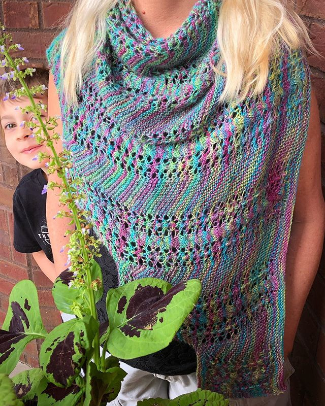 Kelp Shawl Lace and Cables Knitting Pattern