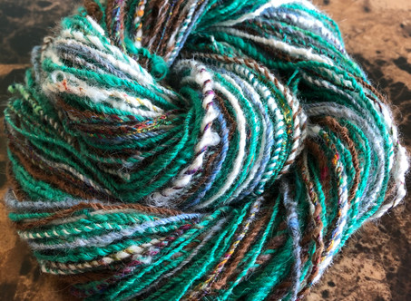 Friday Finish: Fiber Sandwich Handspun!