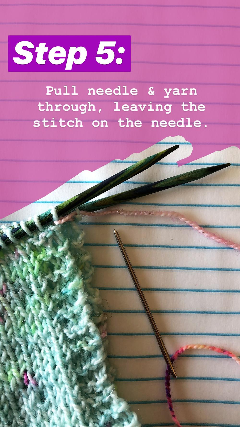 Easy Grafting / Kitchener Stitch Tutorial Step 5