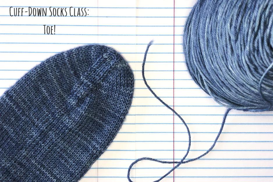 Cuff-Down Socks Class: Toe!