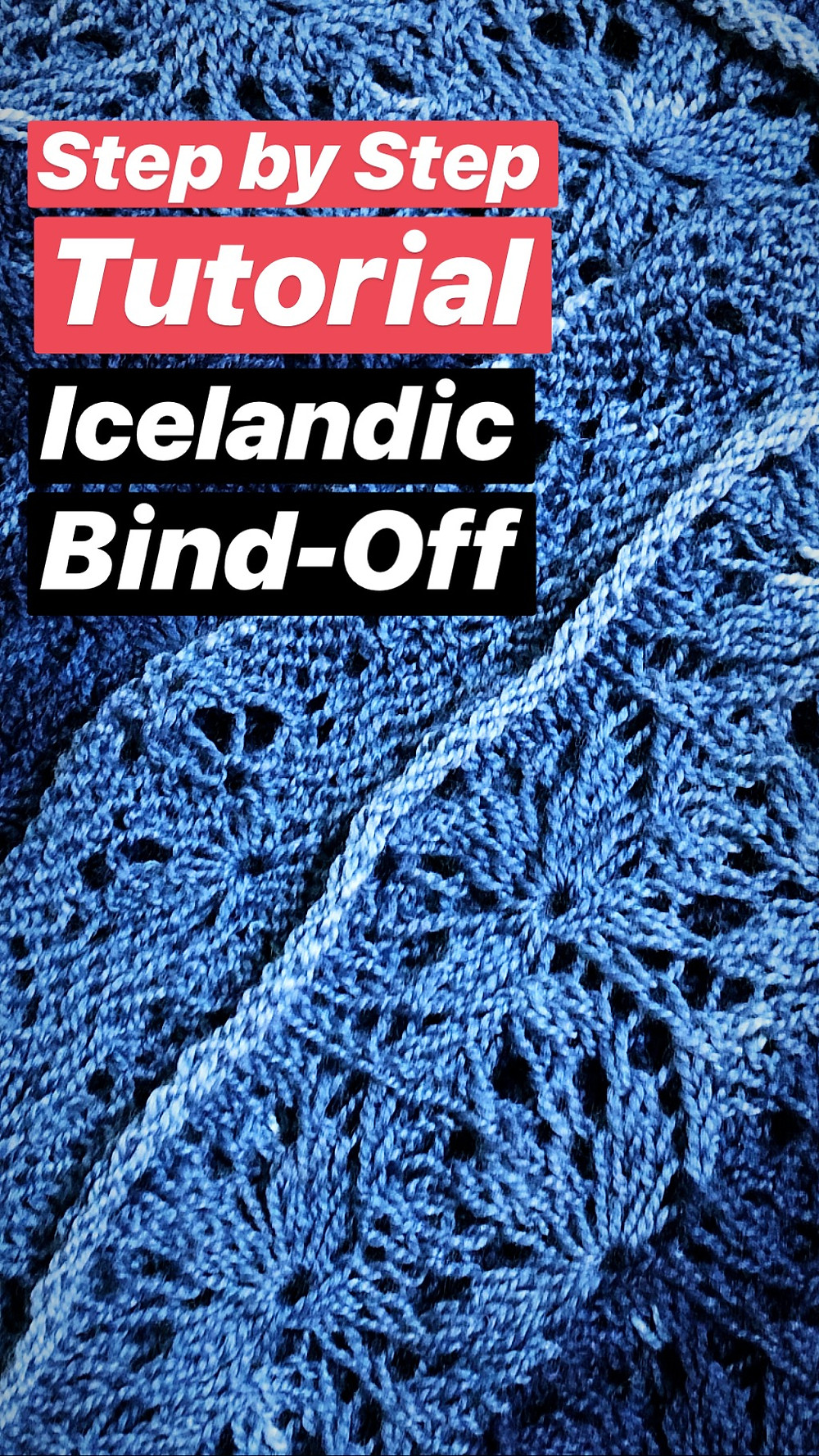 Step by Step Icelandic Bind-Off Knitting Tutorial