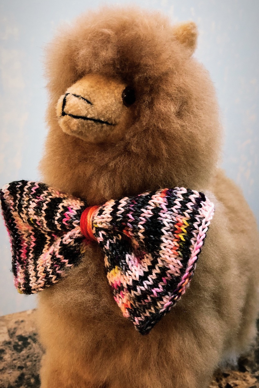 Dapper Stuffed Alpaca