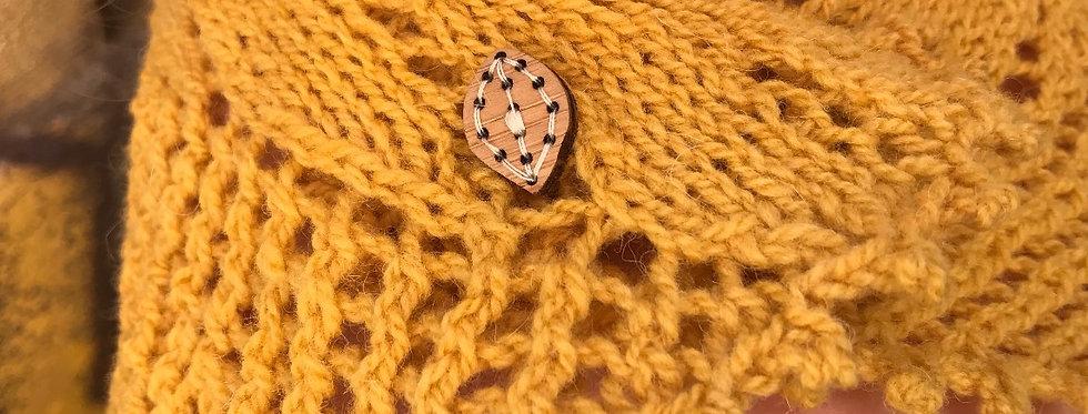 Katrinkles Leaf Button