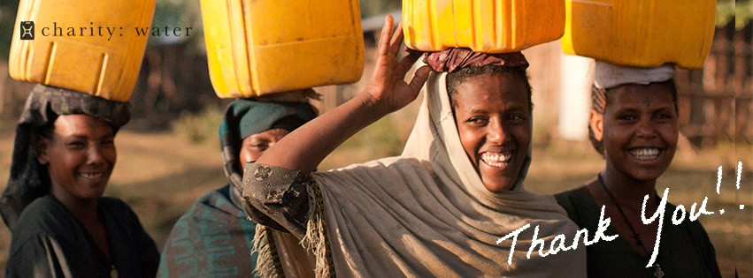 charity: water - thank you!