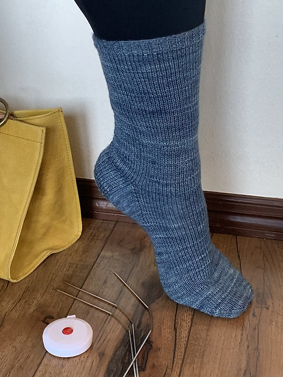 Basic Cuff-Down Adult Socks