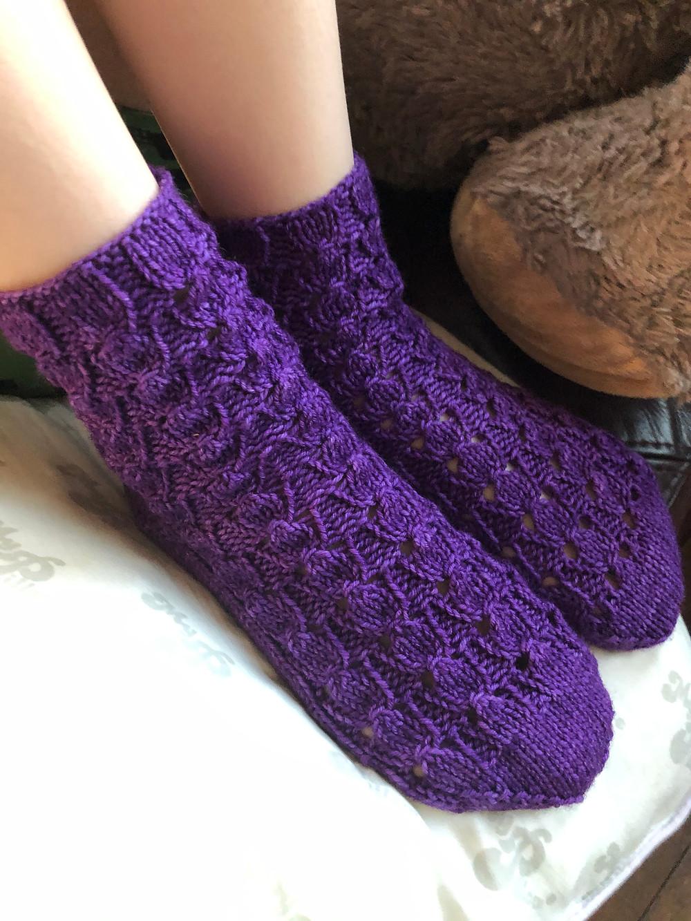 Tales of Childhood Shawl Lace and Mosaic Colorwork Knitting Pattern