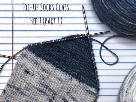 Toe-Up Socks Class: Heel! (part 1)