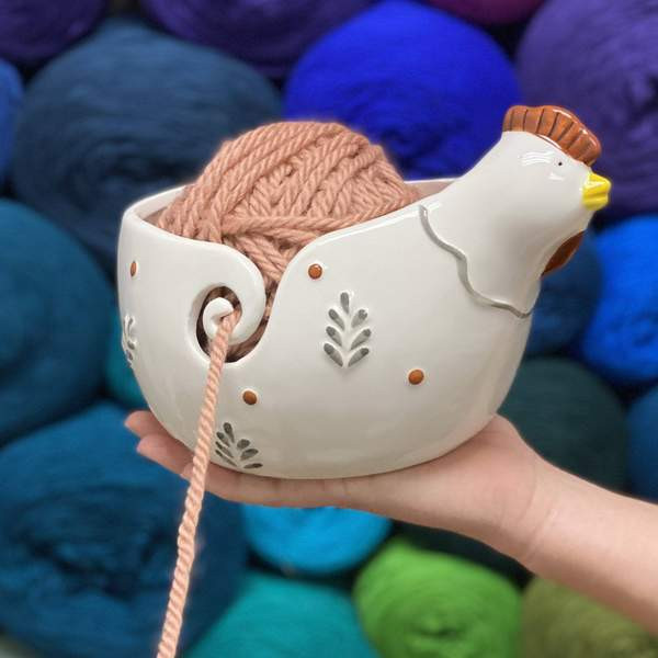 Rooster & Kitty Yarn Bowls!