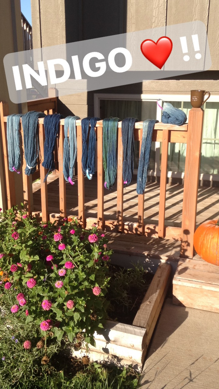 Lots of Indigo Dyed Yarns