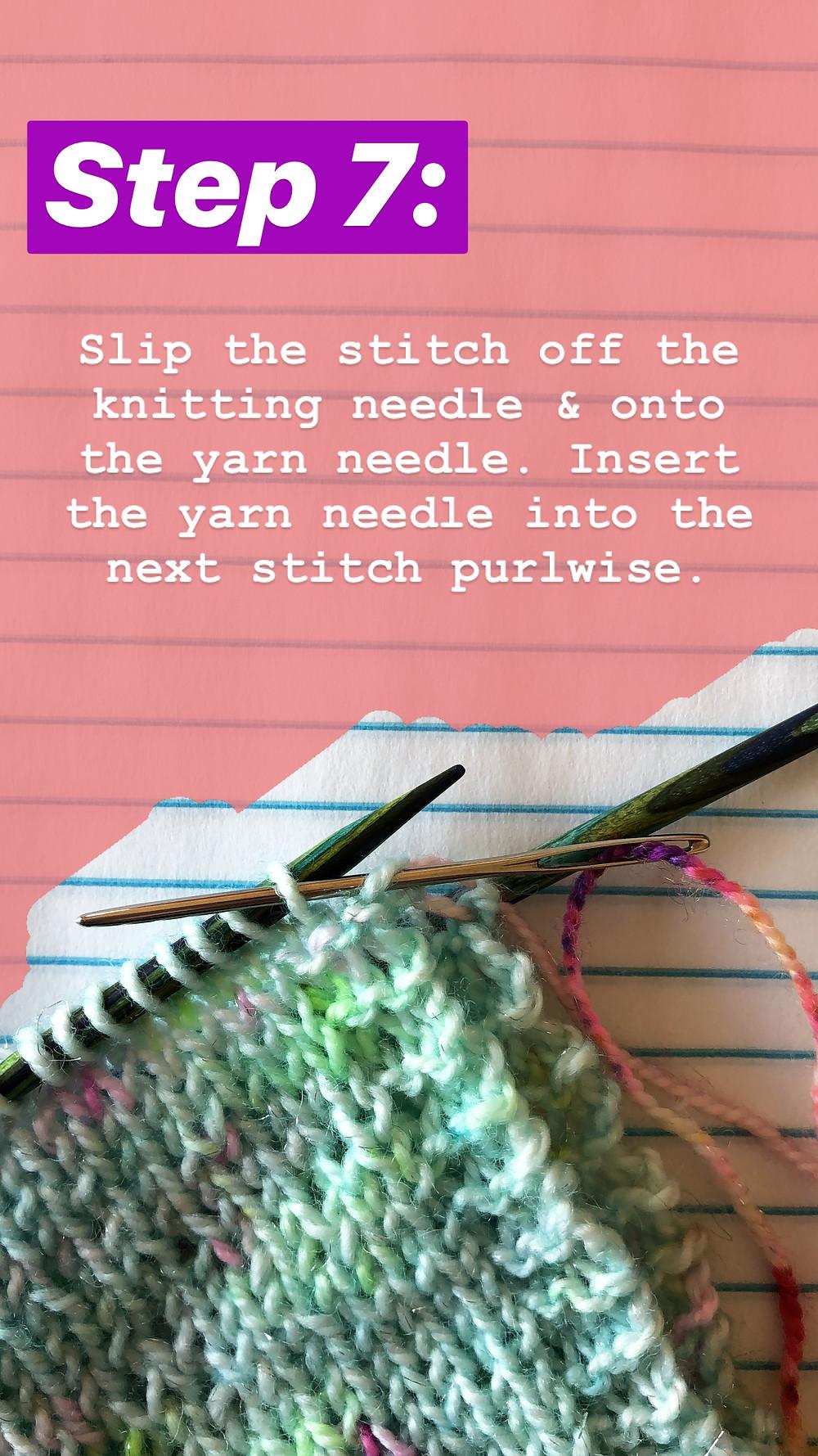 Easy Grafting / Kitchener Stitch Tutorial Step 7