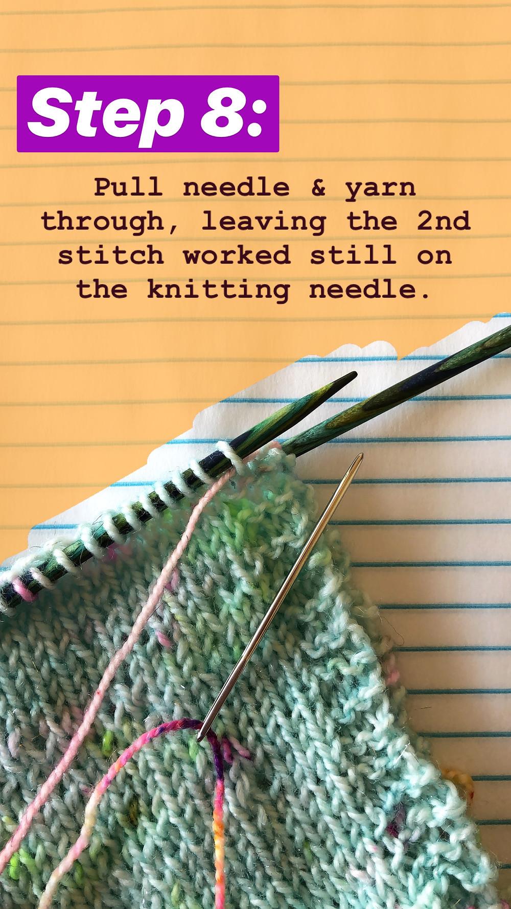 Easy Grafting / Kitchener Stitch Tutorial Step 8