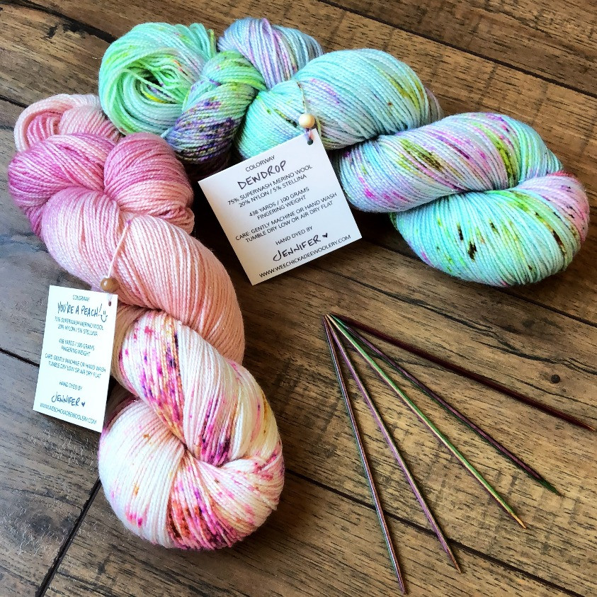 Easy Grafting / Kitchener Stitch Tutorial Featured Yarns