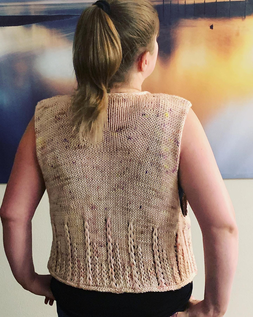 The Story Hour Shawl, a Lace and Mosaic Colorwork Knitting Pattern