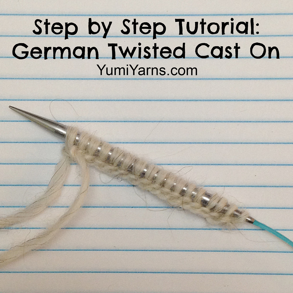 German Twisted Cast On Knitting Tutorial