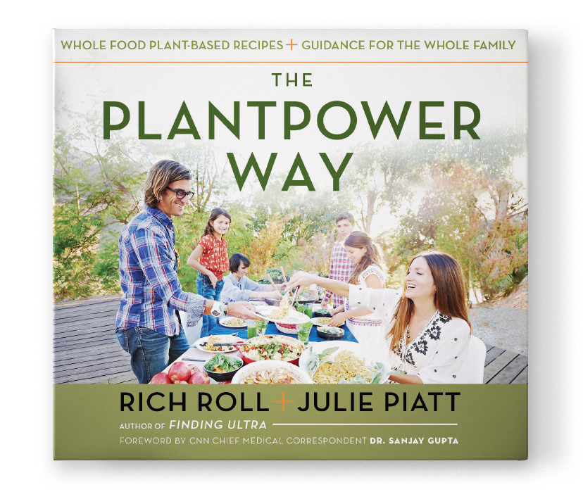 The Plantpower Way by Rich Roll & Julie Piatt - Whole Food Plant-Based Recipes and Guidance for The Whole Family - Book Cover & Review