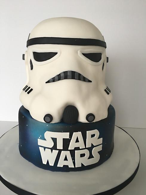 Star Wars Cake, carved cake