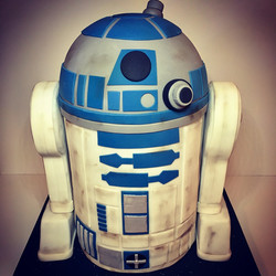 R2D2 cake, star wars cake