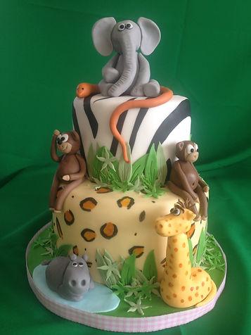 Animal cake, safari cake, birthday cake