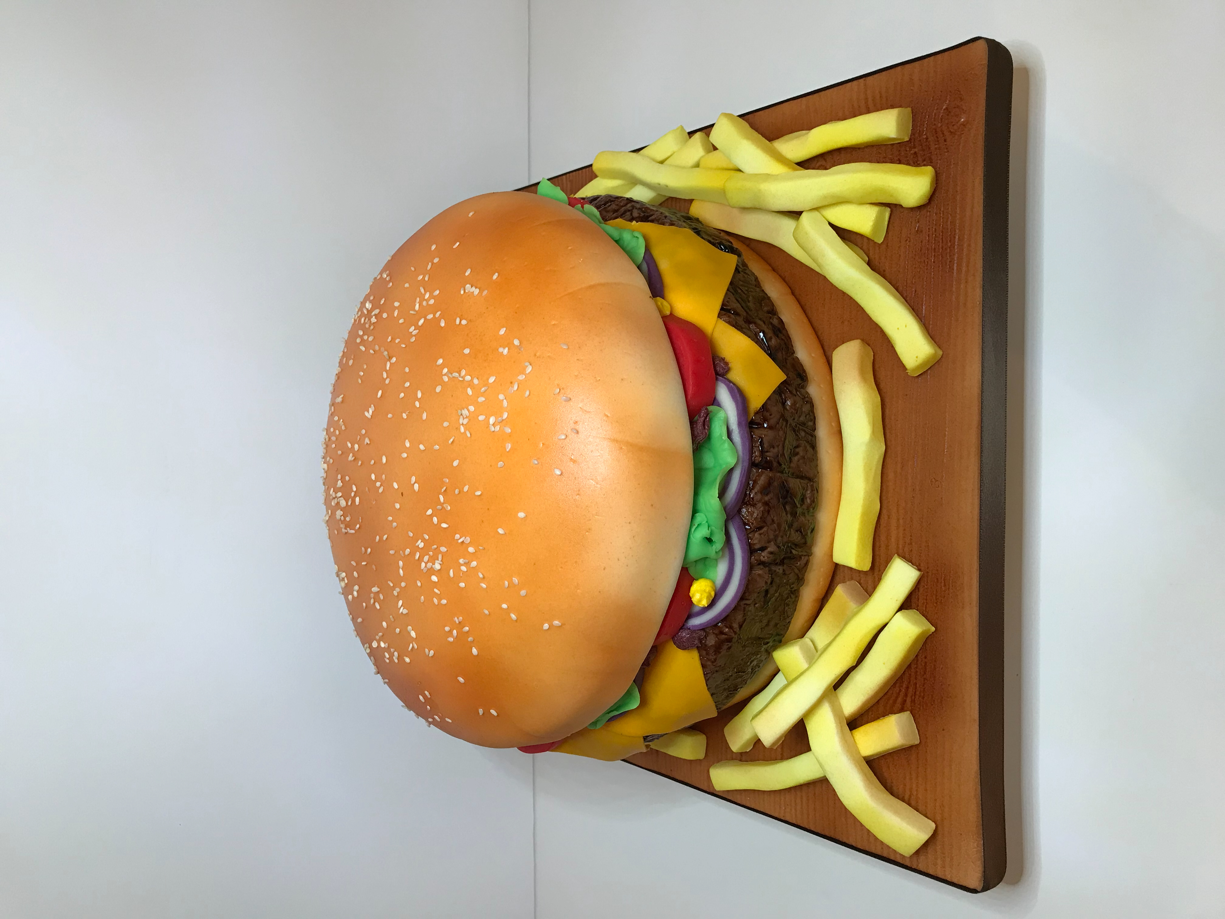 Burger cake, Birthday cake
