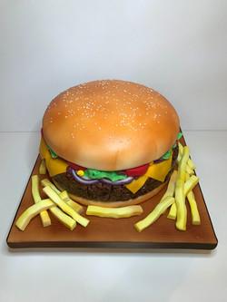 Burger cake, Birthday cake