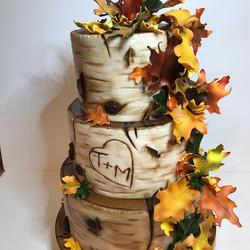 Autumn Wedding cake, Bark cake