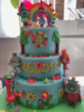 Trolls cake, birthday cake, gilrl's cake