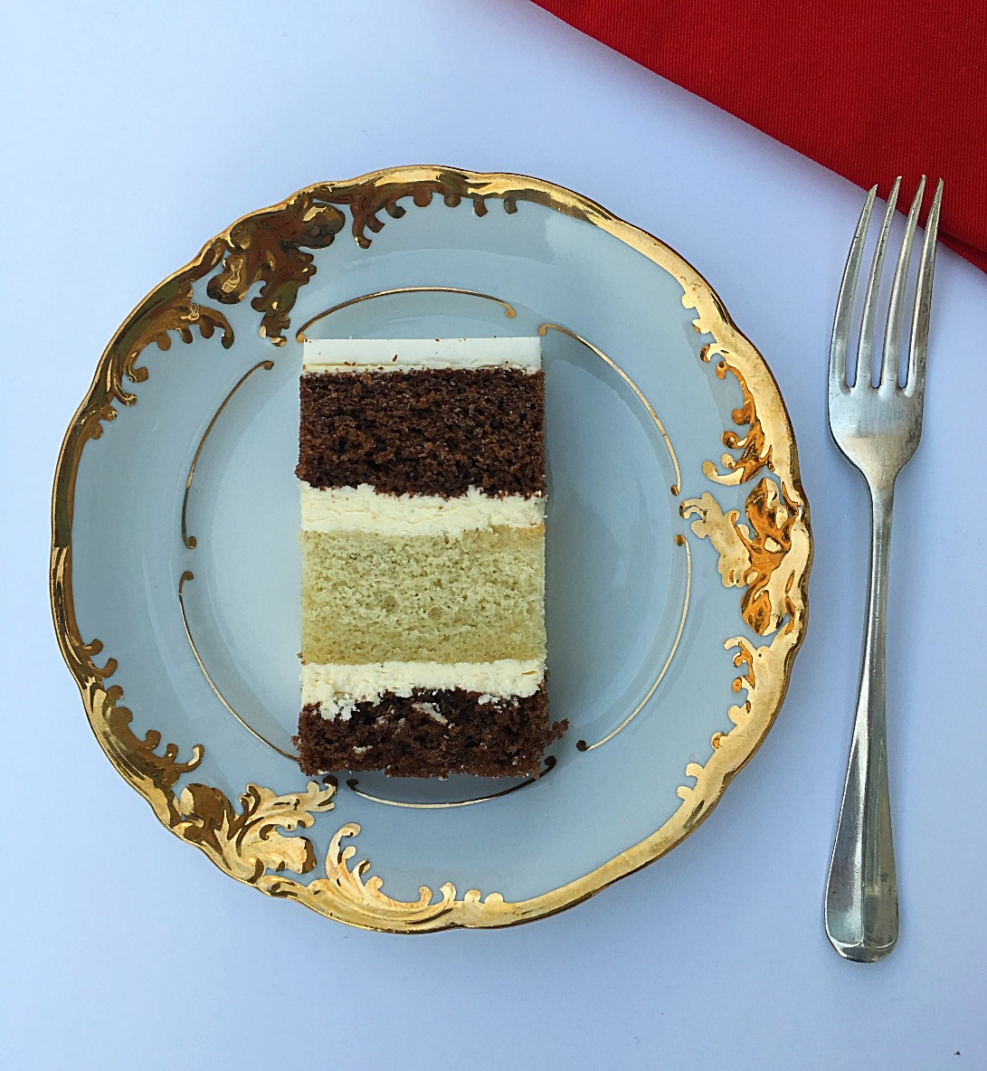 Chocolate and vanilla sponge