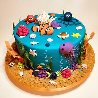 Under the sea cake, nemo cake