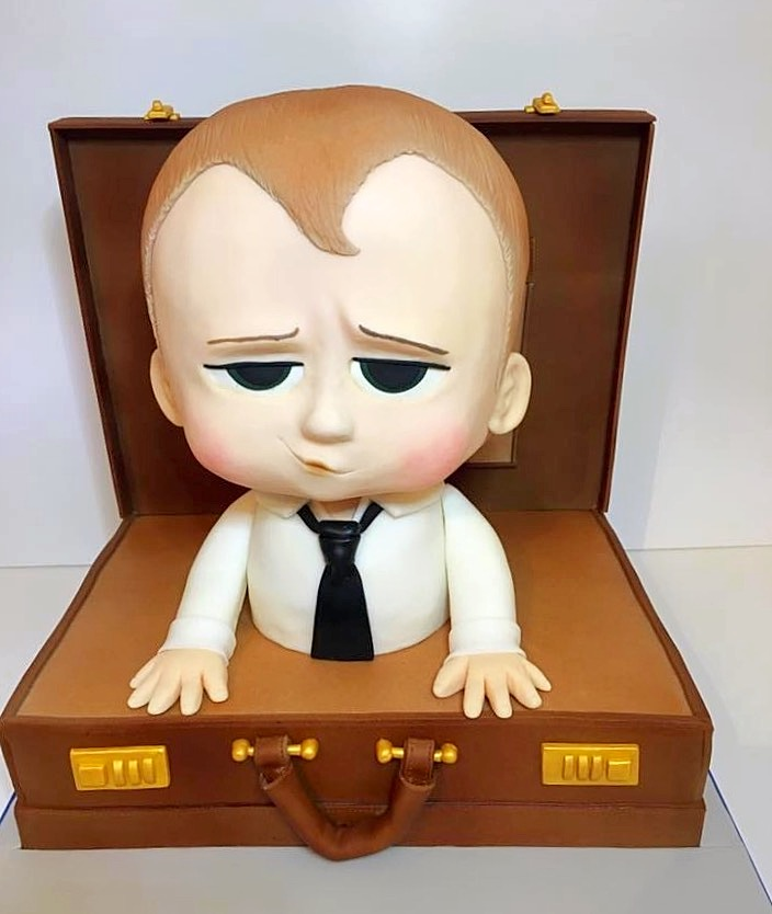 Boss Baby Cake, sculpted cake