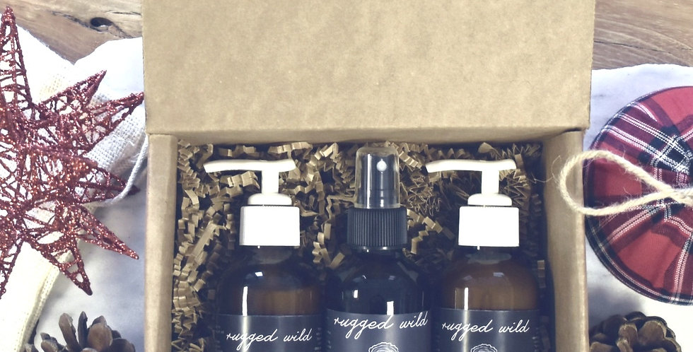 Rugged Wild Face Trio Gift Collection