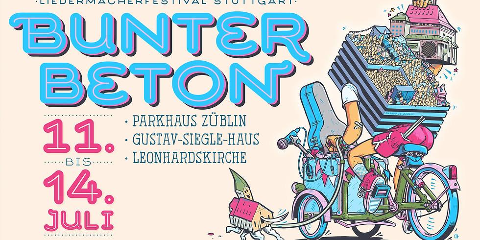 Bunter Beton 2019 - Liedermacherfestival Stuttgart (11. - 14. Juli)