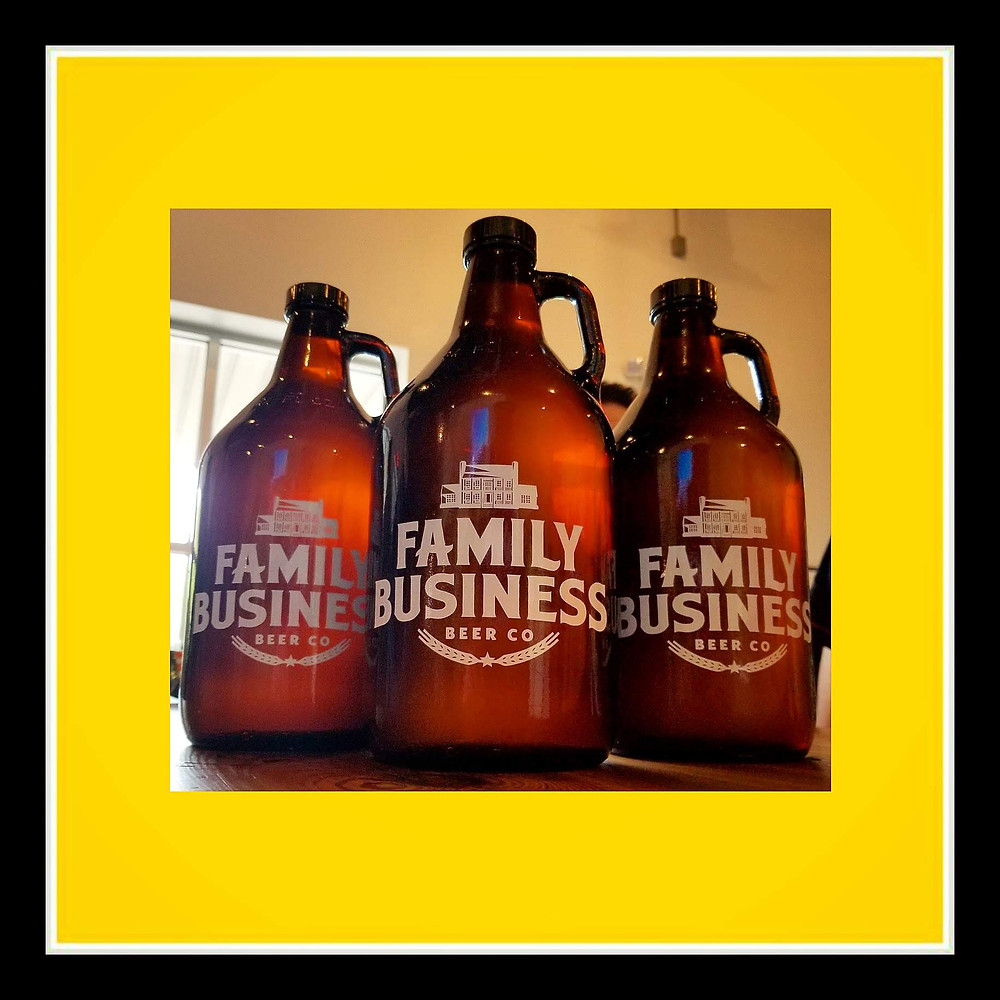 Family Business Beer Co growlers Fox Rye Lager