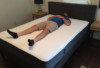 Man on Casper mattress