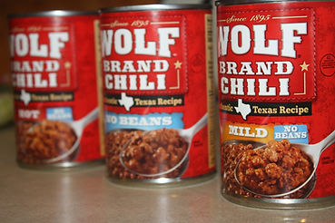 Wolf brand chili in cans