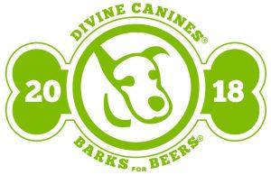 Divine Canines Barks for Beers 2018 logo