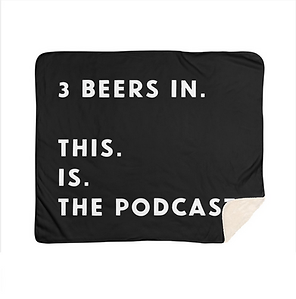 3 beers in alt fleece blanket