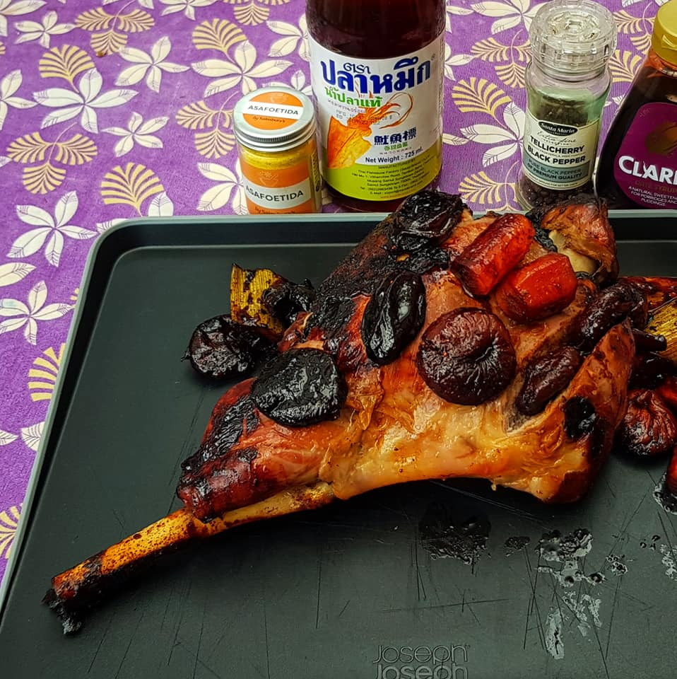Here is an example of a leg of lamb cooked with asafoetida in Roman style. An adapted recipe is in the download below.